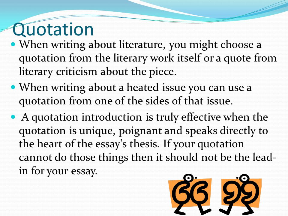 how to develop a hook for essay writing ppt video online  5 quotation