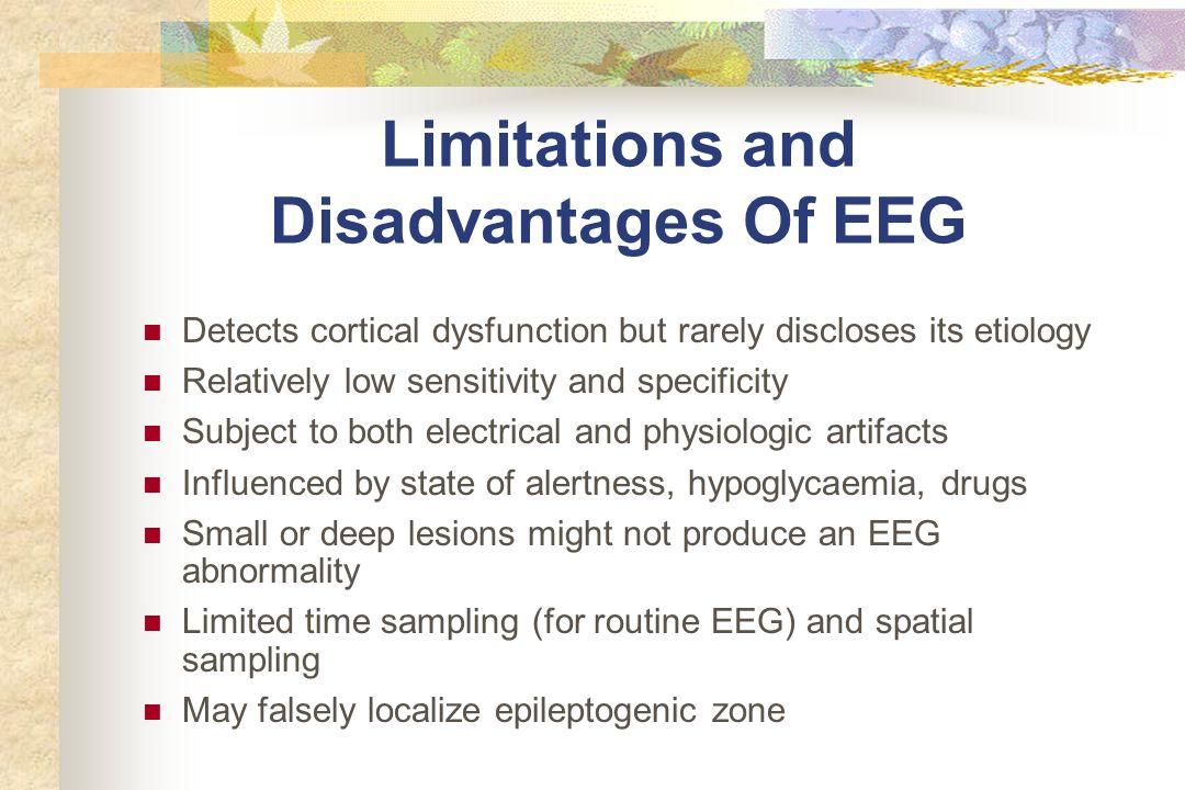 Limitations and Disadvantages Of EEG