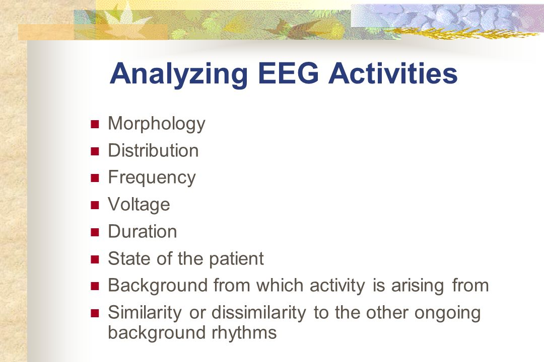 Analyzing EEG Activities