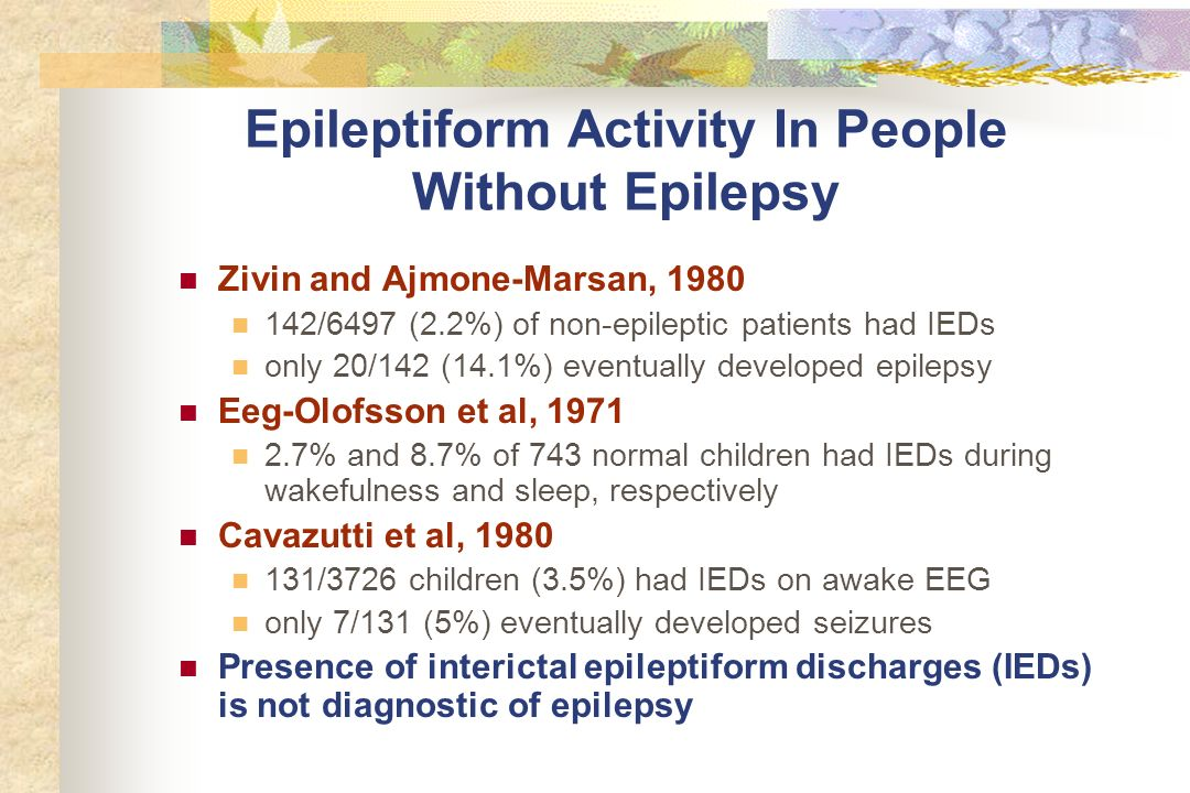 Epileptiform Activity In People Without Epilepsy