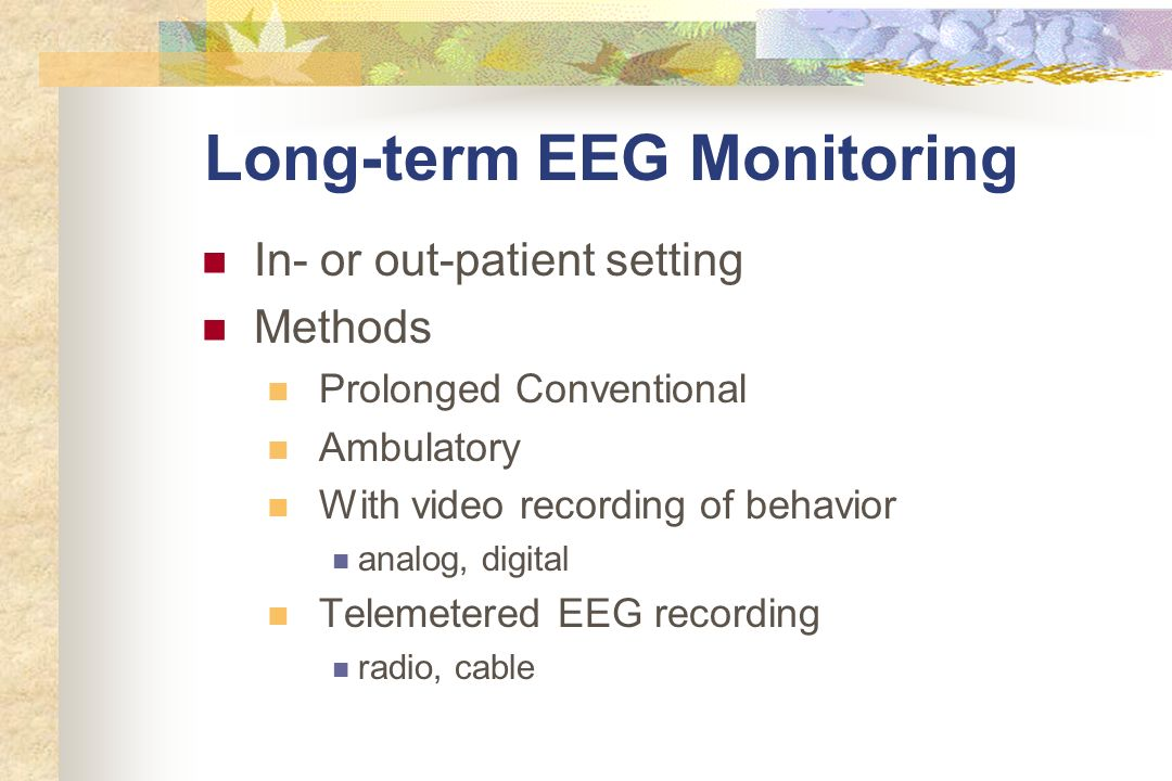 Long-term EEG Monitoring