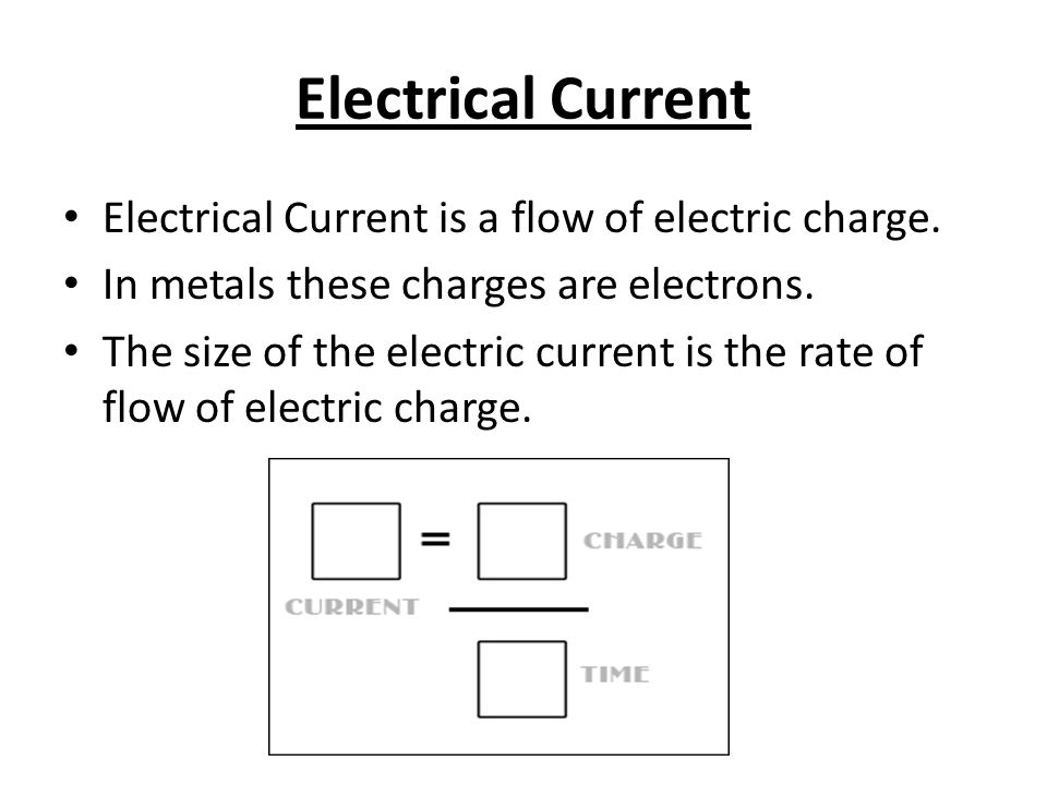 flow of charge and electric current Flow of charge - the electric resistance  from ohm's law, we can see that a damaging electric current depends on these two things.
