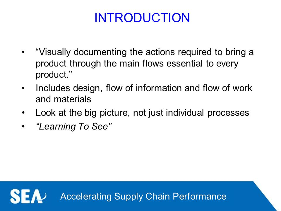 INTRODUCTION Visually documenting the actions required to bring a product through the main flows essential to every product.