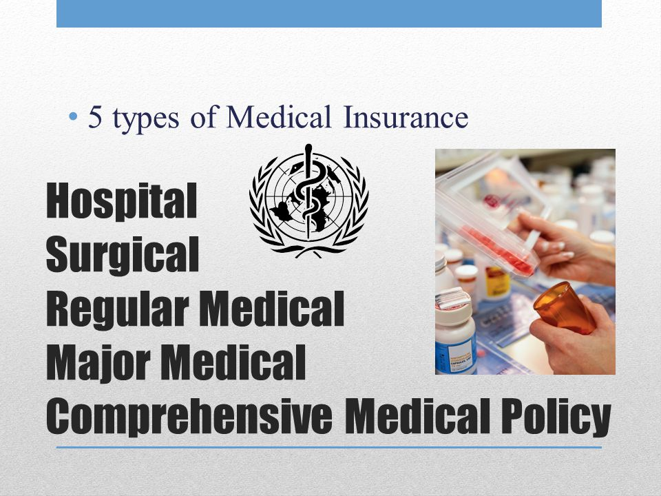 5 types of Medical Insurance