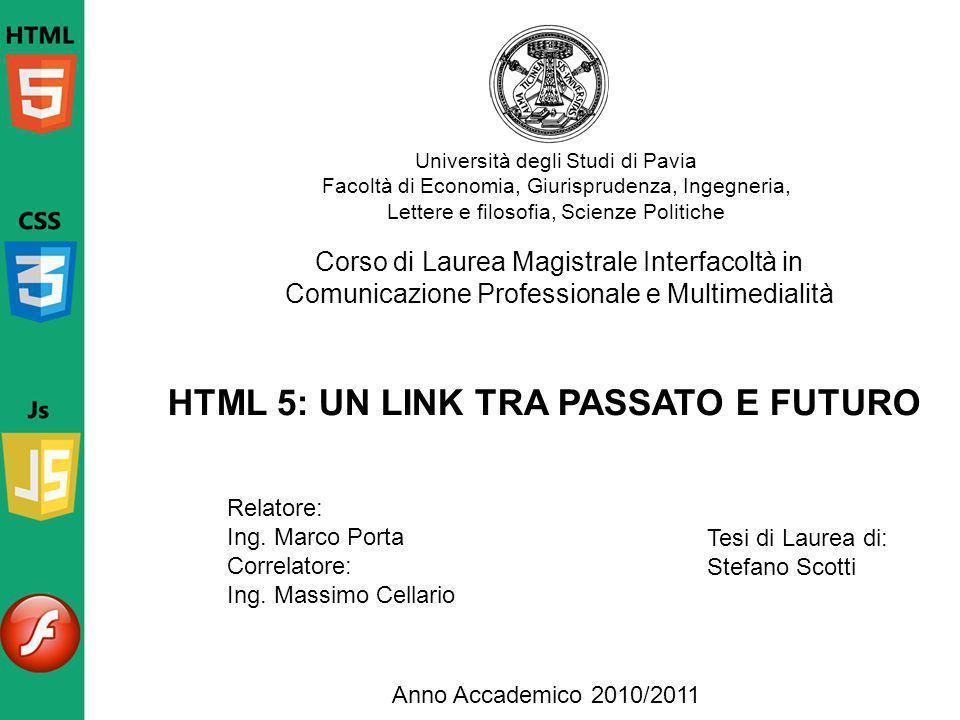 HTML 5: UN LINK TRA PASSATO E FUTURO