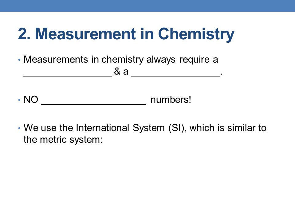 2. Measurement in Chemistry