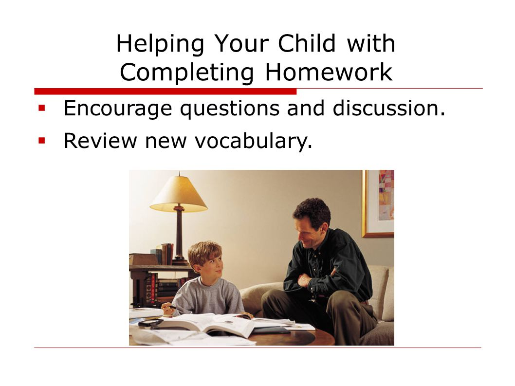 Helping Your Child with Completing Homework