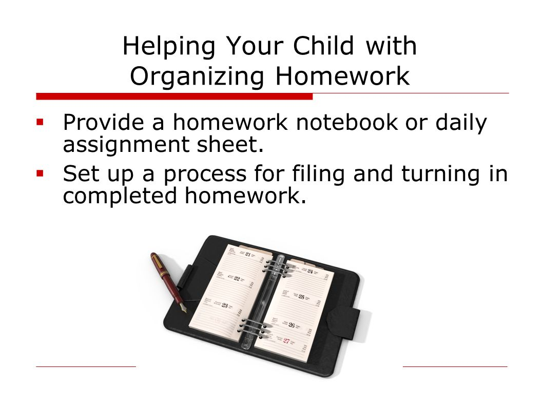 Helping Your Child with Organizing Homework