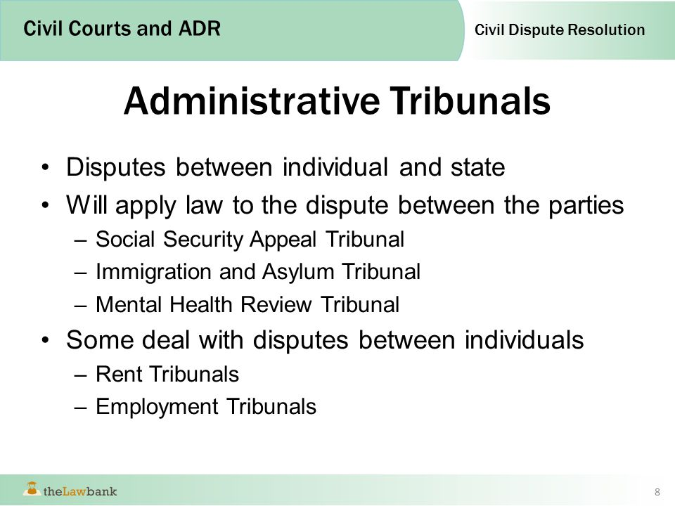 admin tribunal Administrative tribunals have their roots traced from french system of administrative tribunals in france, the control of the judicial courts over the administration was lifted under.
