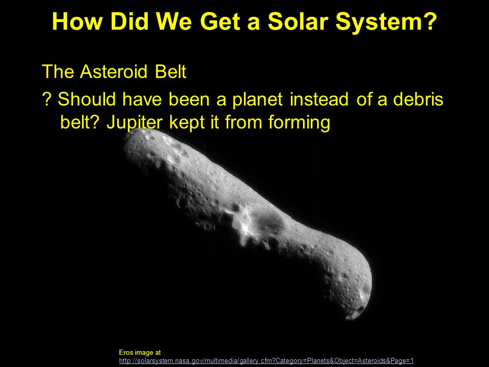 How Did We Get a Solar System
