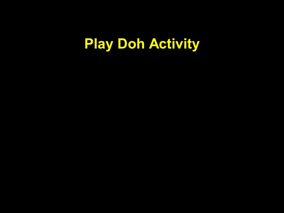 Play Doh Activity