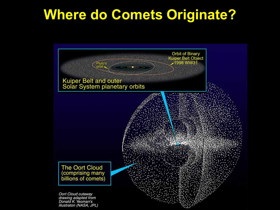 Where do Comets Originate