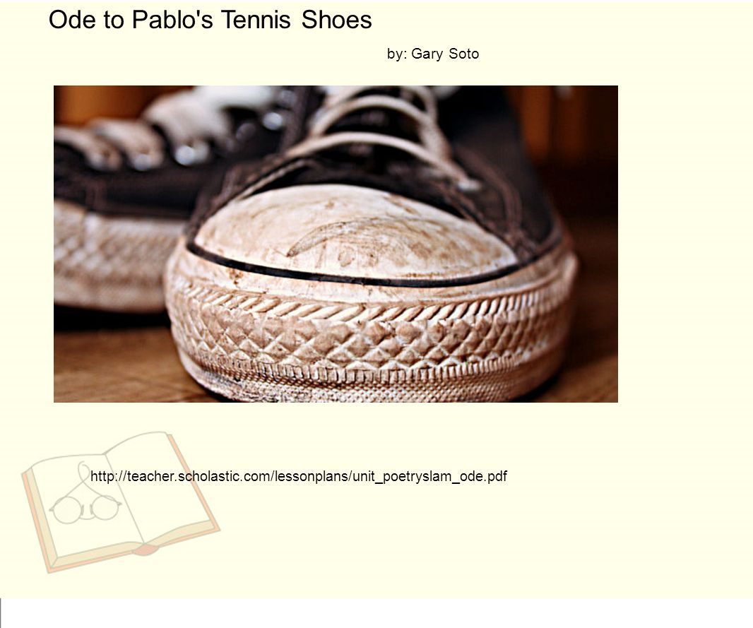What Is Ode To Pablo S Tennis Shoes About