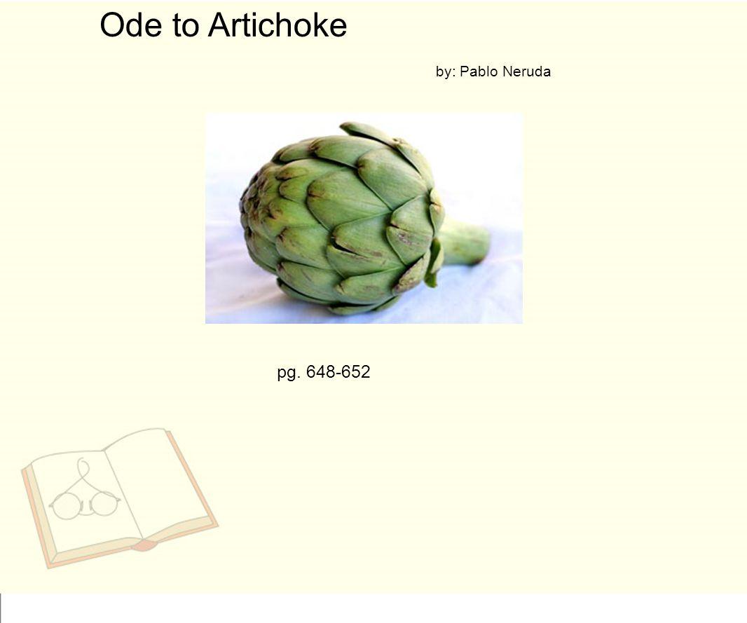 ode to an artichoke pdf