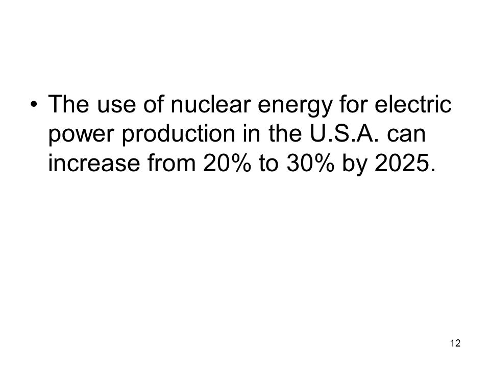The use of nuclear energy for electric power production in the U. S. A