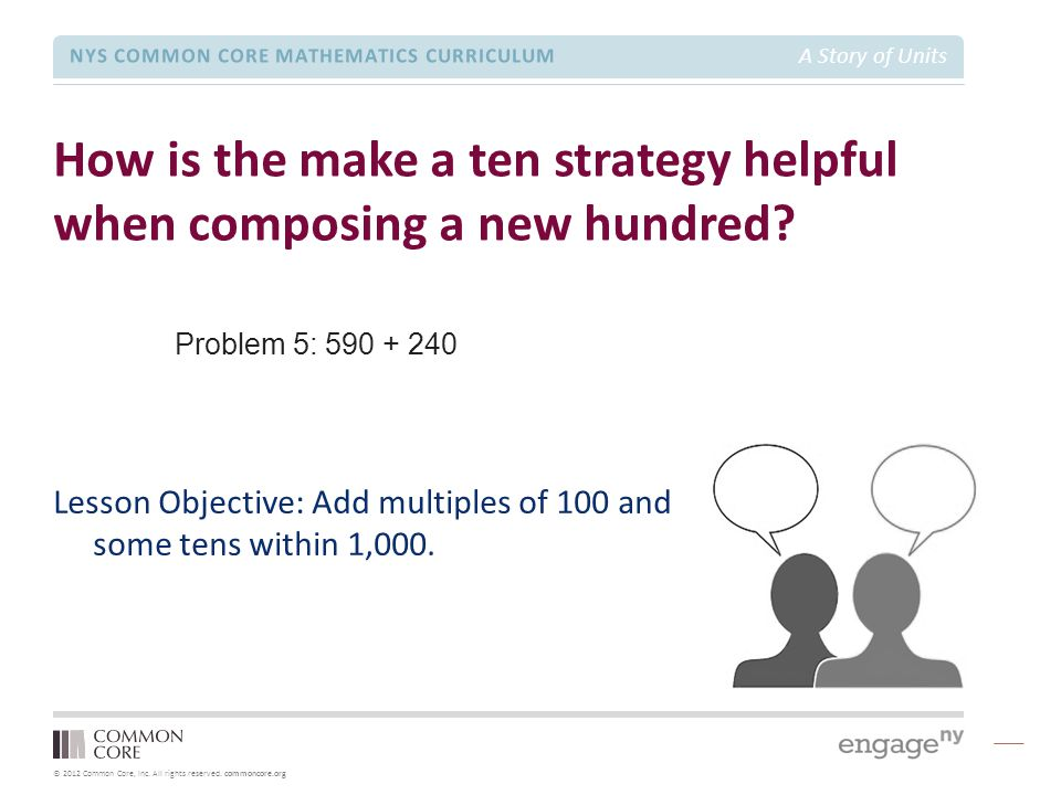 How is the make a ten strategy helpful when composing a new hundred