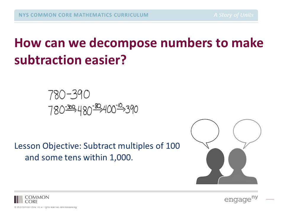 How can we decompose numbers to make subtraction easier