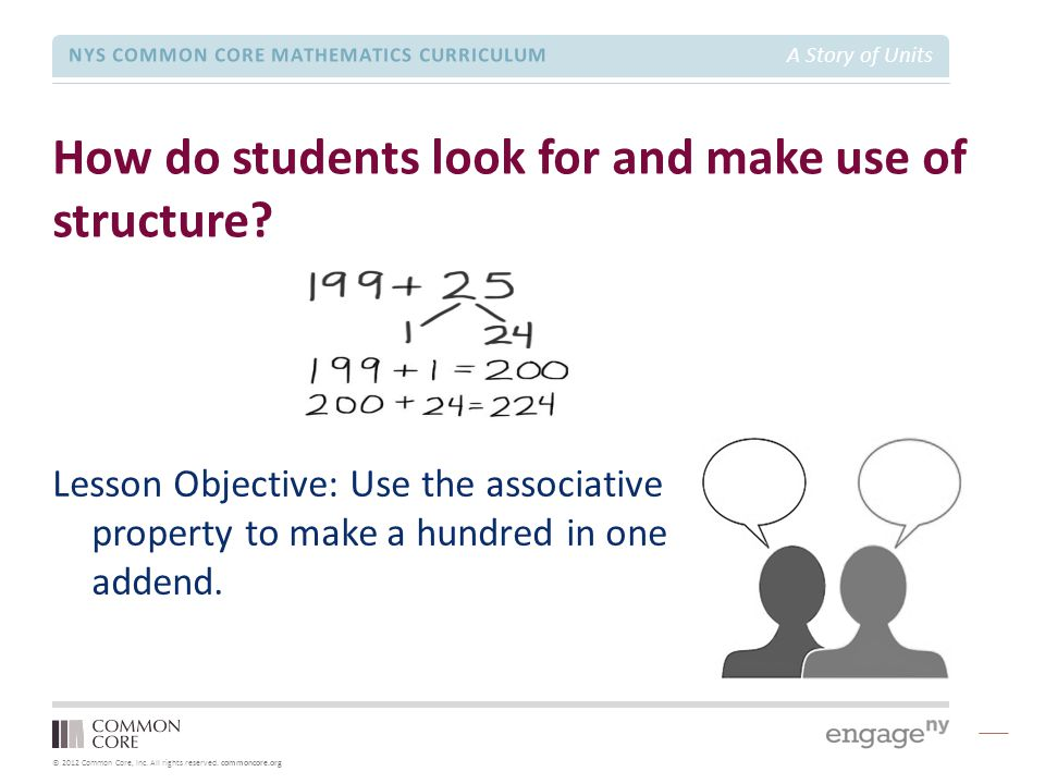 How do students look for and make use of structure