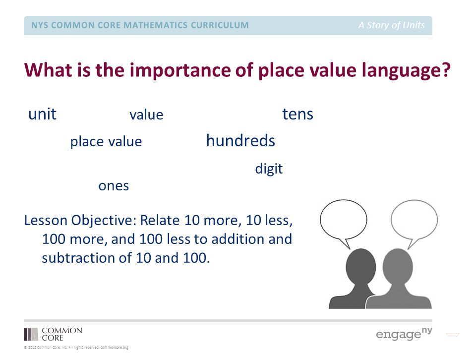 What is the importance of place value language