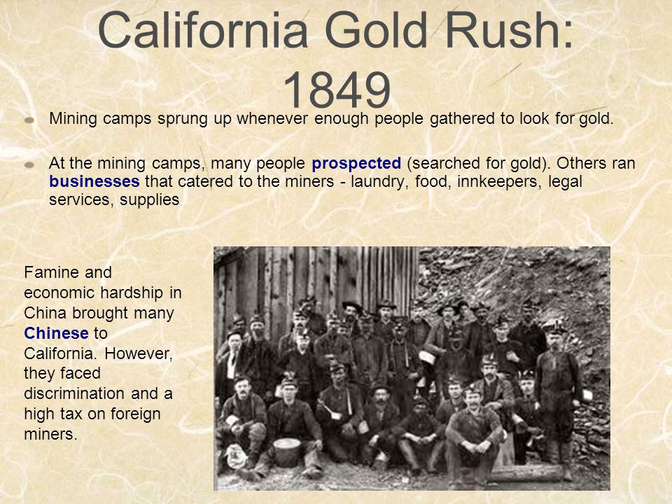 foreign minors tax of 1852 In 1850, the california legislature enacted the foreign miners tax, which levied a monthly $20 tax on each foreign miner the tax compelled many chinese to stop prospecting for gold the foreign miners tax was the opening act in a campaign by native-born white americans to restrict the entry of chinese laborers into california to compete with.