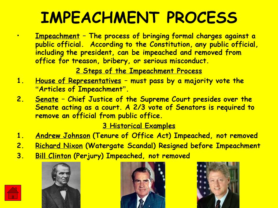 STRUCTURE & FUNCTION of FEDERALISM - ppt download Impeachment Process