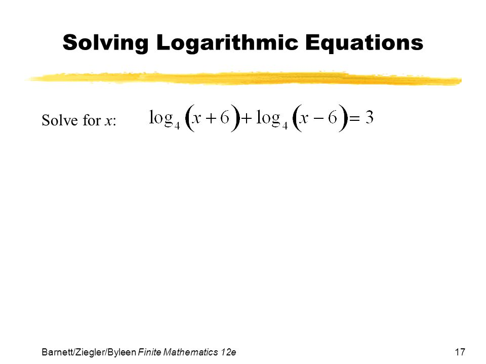 Solving Equations Using Natural Logs
