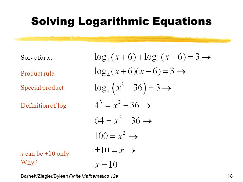 Solving Logarithmic Equations Worksheet - The Large and ...