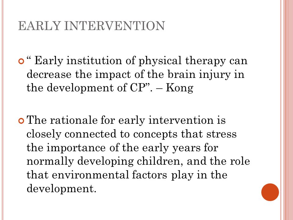 an analysis of the importance of early intervention programs Effect of early intervention in autism:  increased in importance because children with asds who receive  early intervention programs are indeed beneficial.