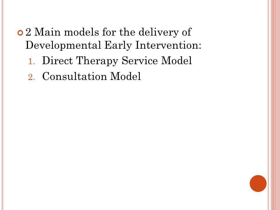 Three major models of service delivery