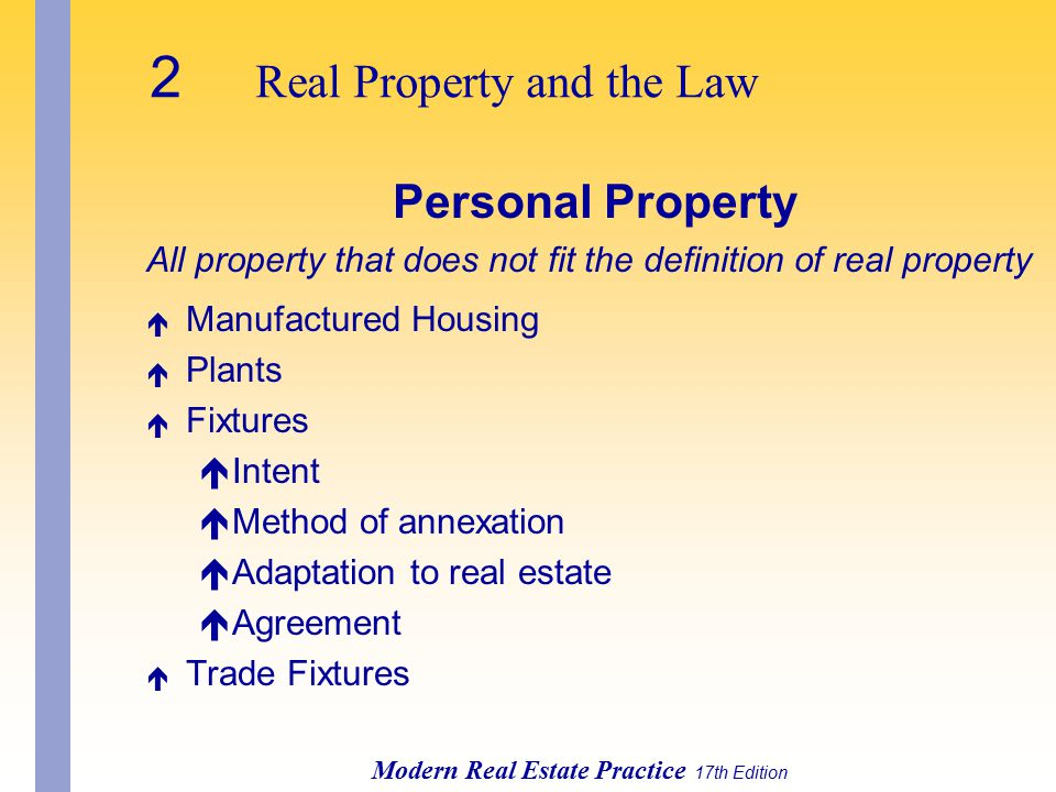 2 Real Property and the Law
