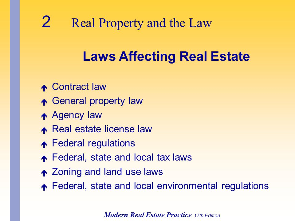 Laws Affecting Real Estate