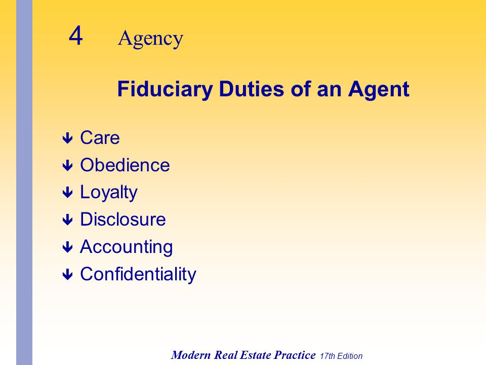 Fiduciary Duties of an Agent