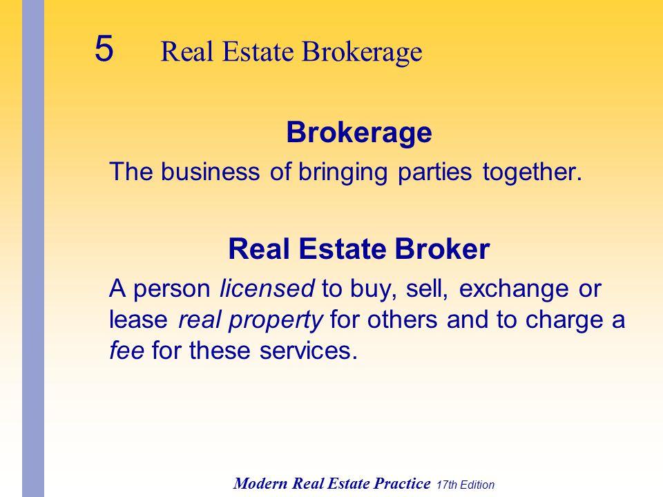5 Real Estate Brokerage Brokerage Real Estate Broker