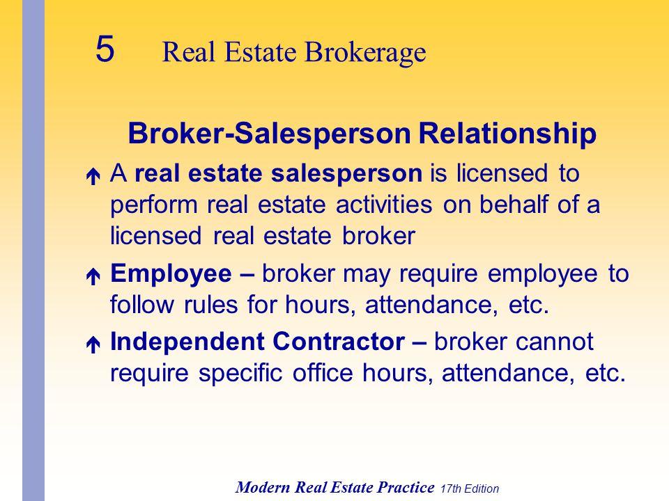 Broker-Salesperson Relationship