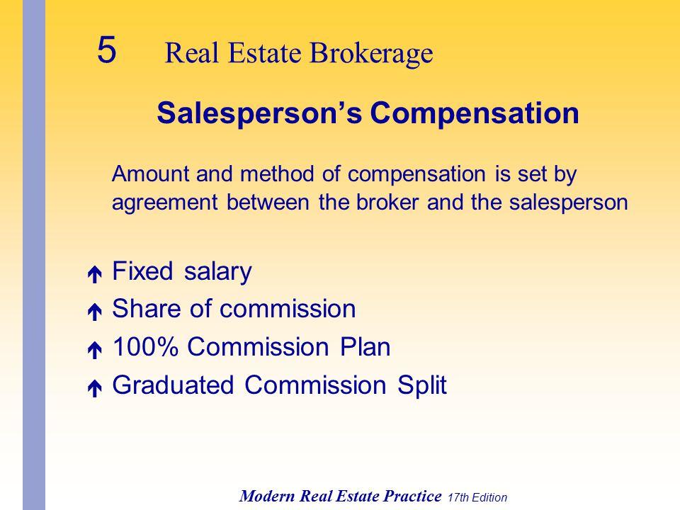 Salesperson's Compensation