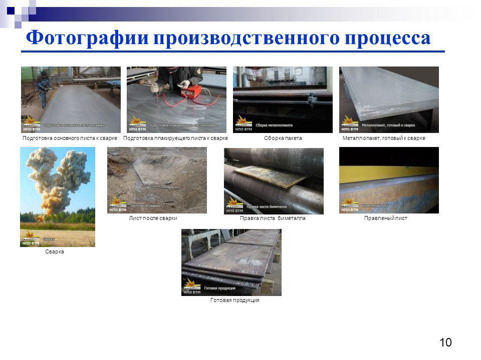 Фотографии производственного процесса