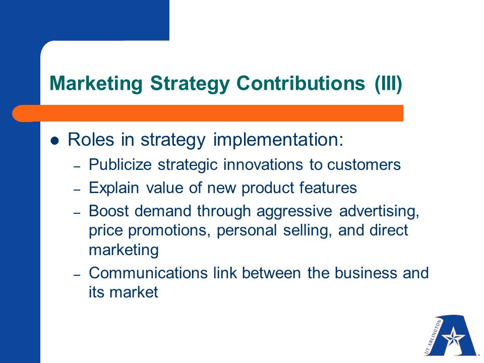 The difference between marketing strategy and tactics.