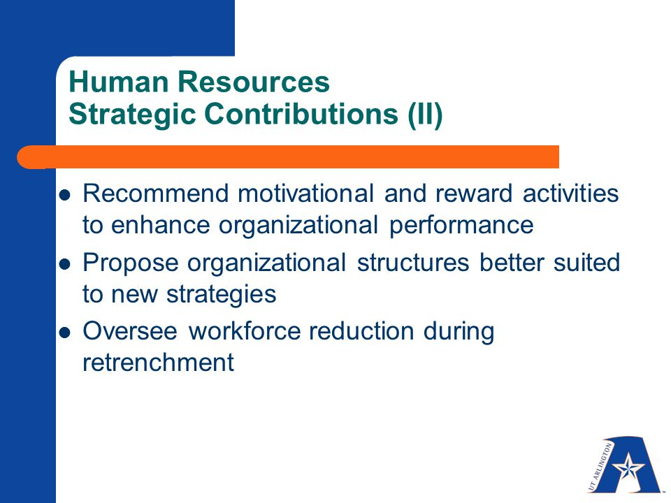 human resource management contribution to organisational success The impact of human resource management on organizational success: suggestions for hospitality educators abstract a recent article in the hospitality and tourism educator (van hoof, 1991) reported that recruiters for.