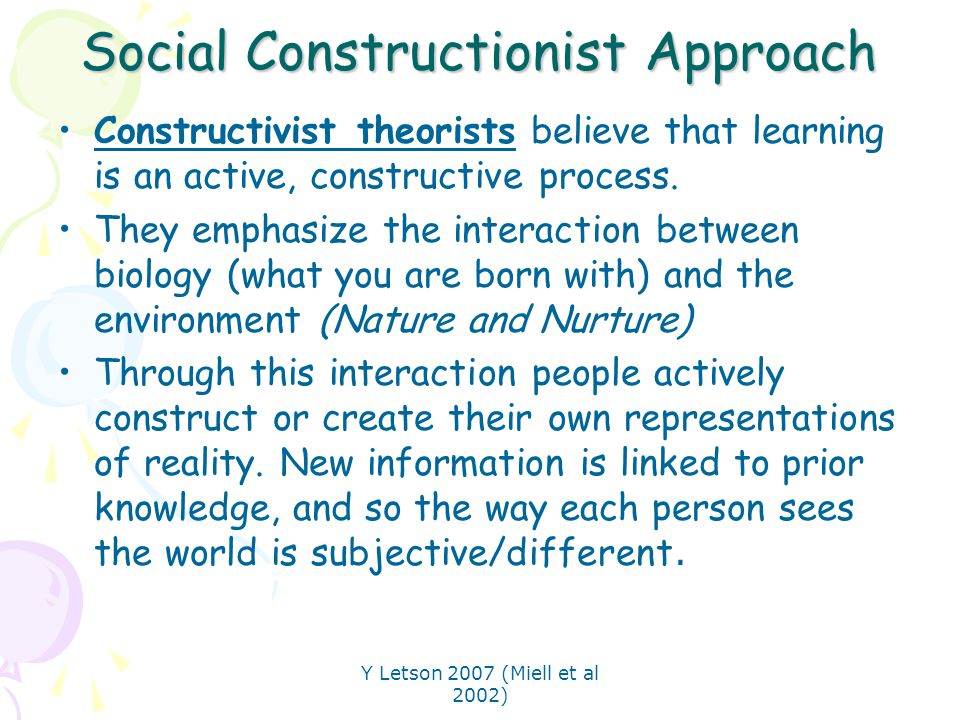 social constructionist approach essay Key words social construction of identity, language, intersections of identities and i argue explicitly for a politicized social psychology social identity theory focuses on the extent to which individuals identify them.