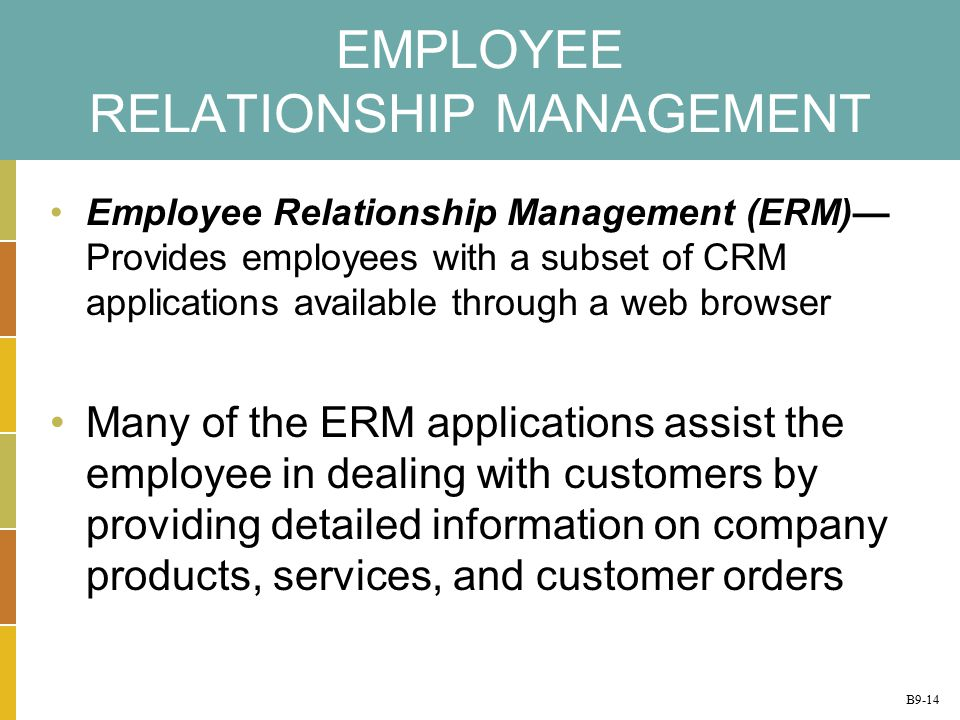 relationship management and employee result