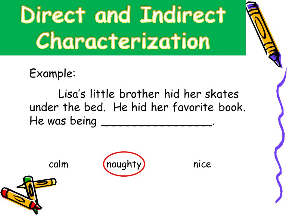 direct vs indirect characterization