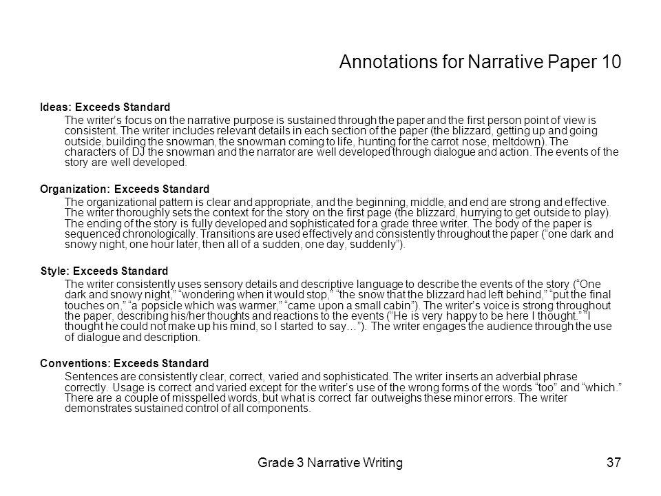 First Person Narrative Examples Essays. Example Of Narrative Essay