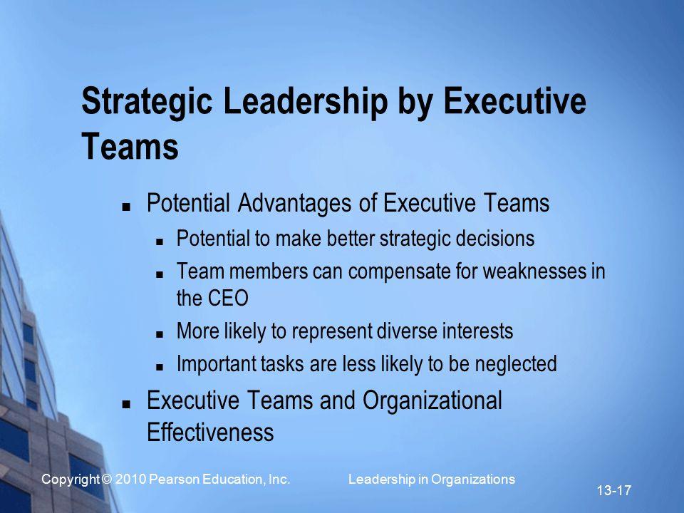Strategic Leadership by Executive Teams