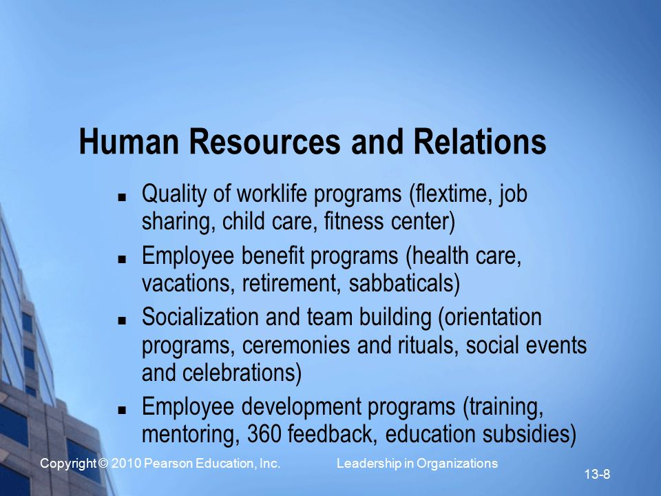 Human Resources and Relations