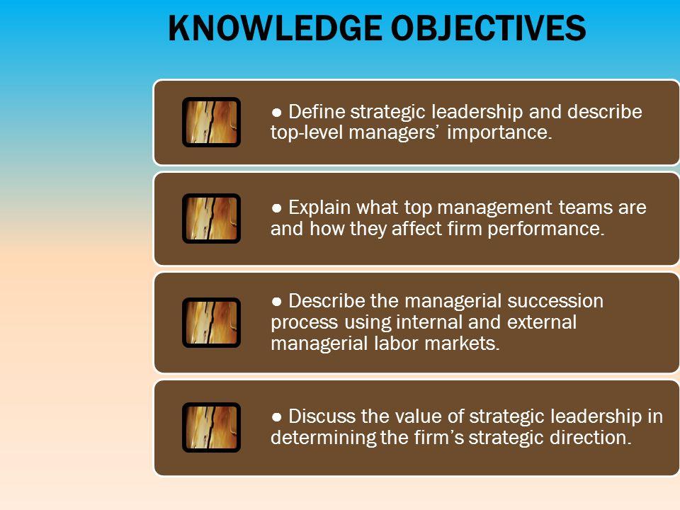importance of strategic leadership pdf