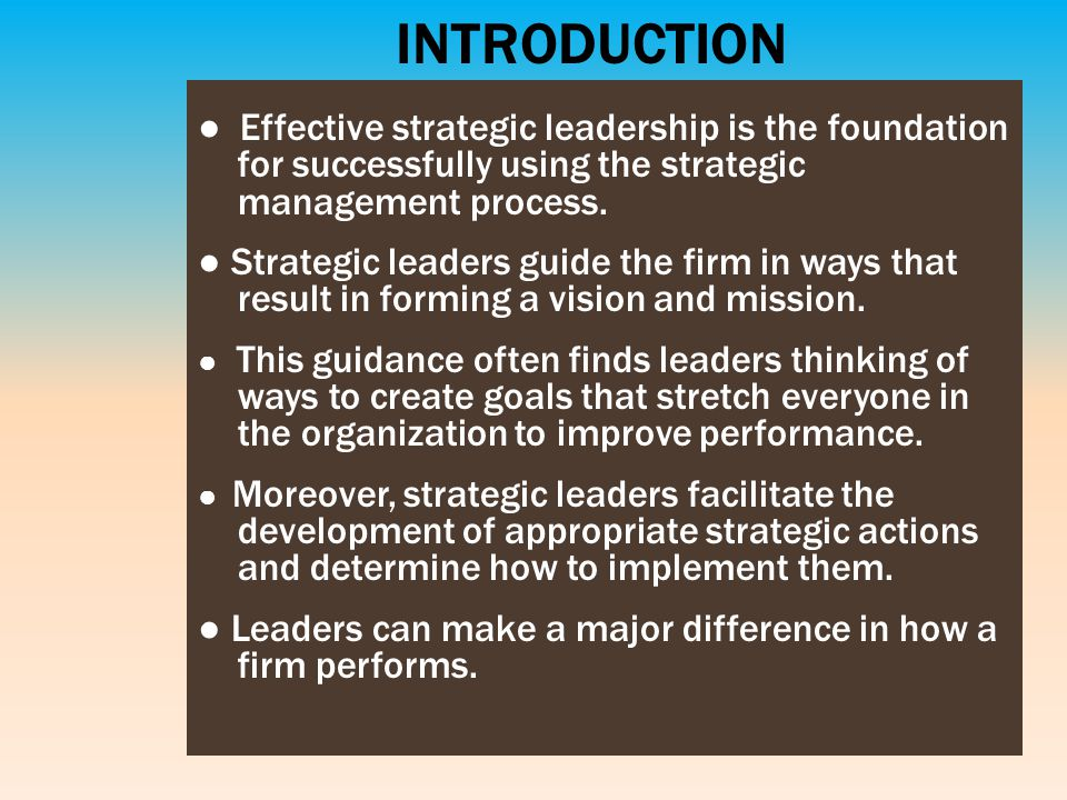 190974982 strategic management and leadership