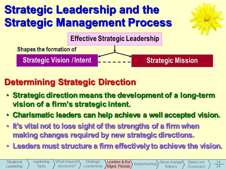 stategic direction and leadership essay They said that i have skills how to give a direction and guideline to make it easier  to finish the task  developing strategic management and leadership essay.