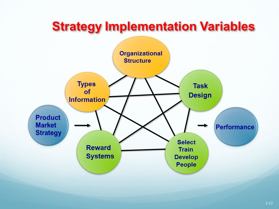 Strategy Implementation Variables