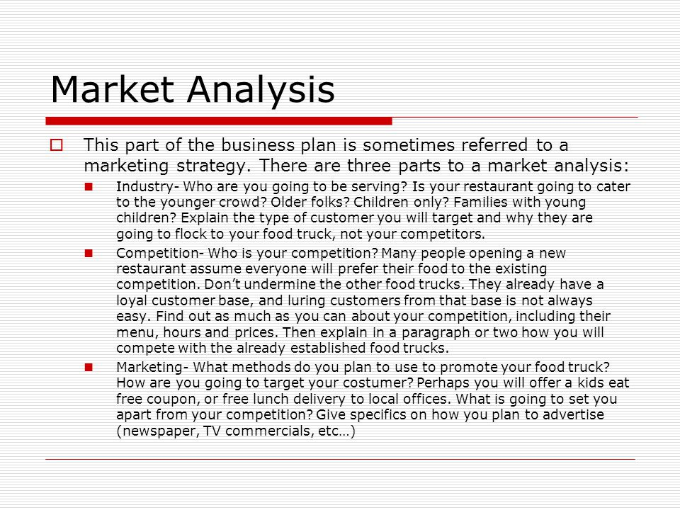 marketing analysis for the purpose of online business plan