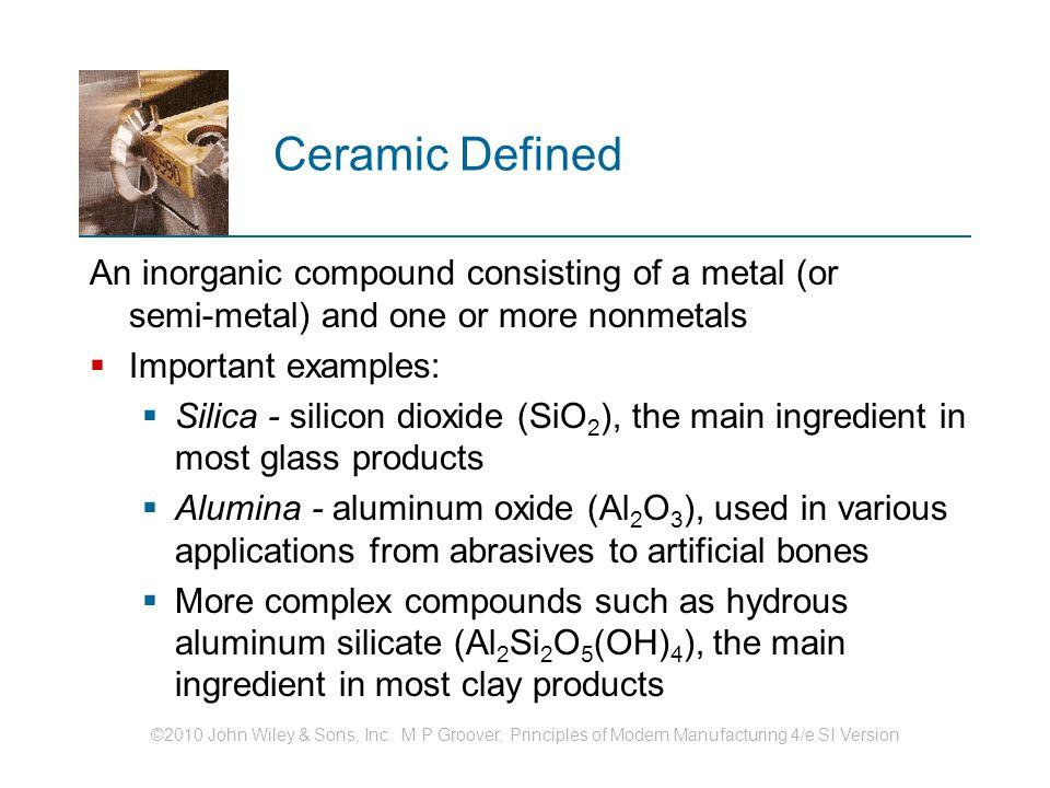 Ceramics Structure And Properties Of Ceramics Traditional